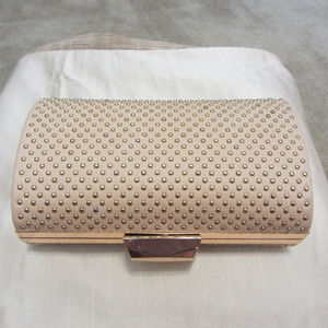 bebe studded Clutch NWT